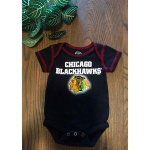 CHICAGO BLACKHAWKS COTTON BABY ONESIE